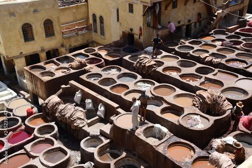 Fotografía  Curtiduría Chouwara en Fez (Marruecos), Africa