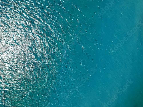 Fotografija Aerial top view water surface background
