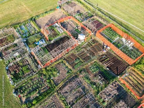 Fotografía  Urban farm aerial view