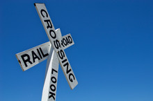 Old Wooden Railroad Crossing Sign