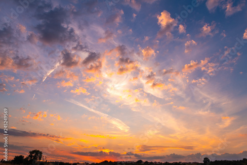 sunset sky with clouds - 245249569