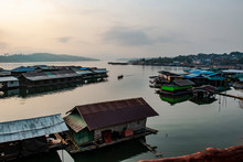 Landscape Of Pier In The River Thailand