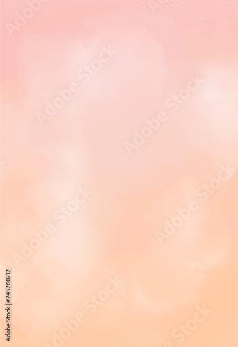 Cuadros en Lienzo watercolor paper. peach texture background. vector eps 8