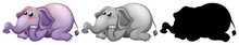 Set Of Elephant Character