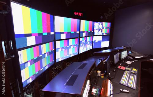 Photo  News Control Room TV Broadcasting