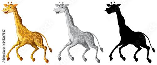 Staande foto Kids Set of giraffe character
