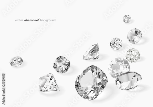 Photo Luxury background with diamonds for modern design