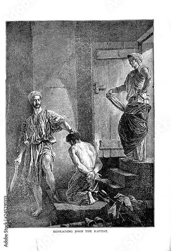 Leinwand Poster Execution of John the Baptist
