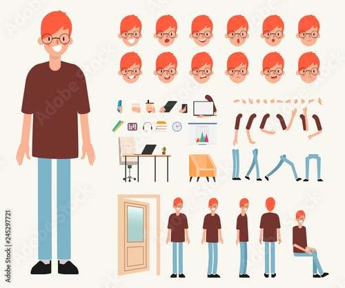 Valokuva  Young man character Ready for animation stop motion graphic