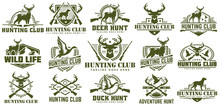Collection Of Hunting Logo, Ve...