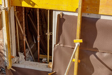 Construction Of A House Close-up