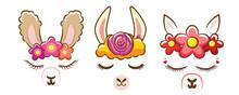 Llama Face Clipart