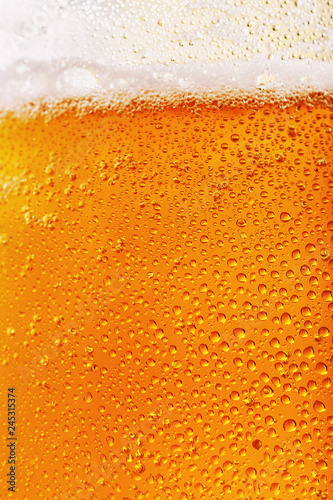 Photo Texture of light filtered beer close up