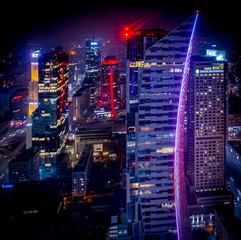 Fototapeta Do biura Warszawa nocą