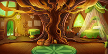 Fairy Tale Cottage Interior. F...