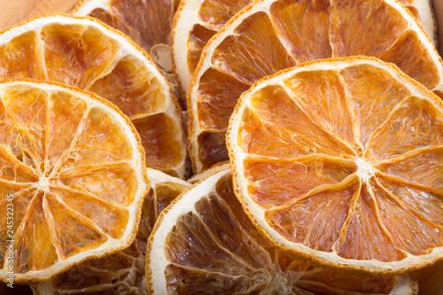 dried orange fruits background
