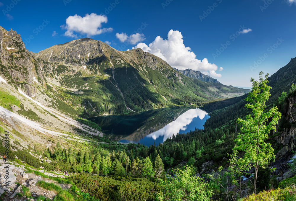 Fototapety, obrazy: Landscape of High Tatras in the spring.