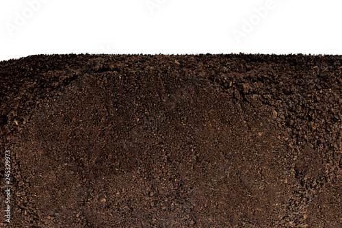 Fotomural  ground isolated on white background