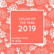 Vector image of the color of the year 2019 - Living Coral