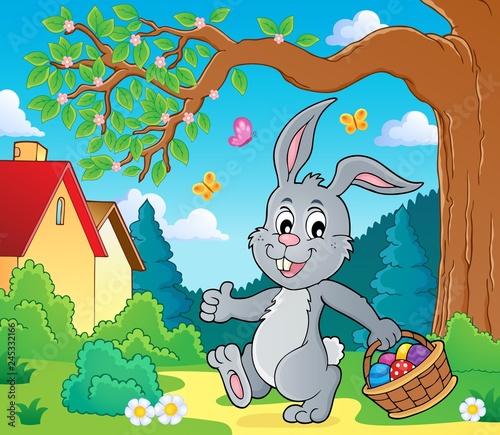 Staande foto Voor kinderen Easter rabbit thematics 6