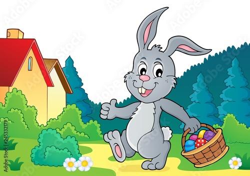 Staande foto Voor kinderen Easter rabbit thematics 7