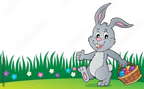 Staande foto Voor kinderen Easter rabbit thematics 8