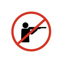 Stop Hunting Sign Symbol