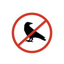 No Birds Icon. No Birds Icon Vector. Linear Style Sign For Mobile Concept And Web Design. No Birds Symbol Illustration. Vector Graphics - Vector