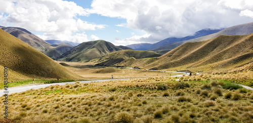 Fotografia, Obraz Lindis Pass View at the Highway 8, New Zealand, South Island, NZ