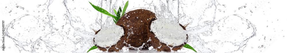 Fototapety, obrazy: Kokos w wodzie | Coconut in the water