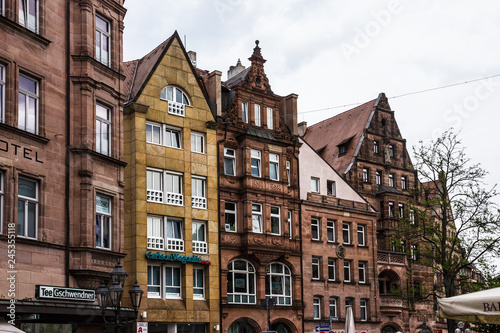 Fotografiet  Nuremberg, Germany: medieval town house, Germany