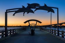Vilano Beach Fishing Pier At Twilight In St. Augustine, Florida