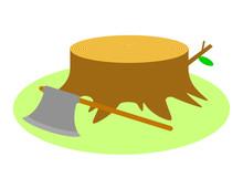 切り株と斧