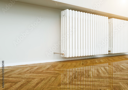 Radiator Heater In Empty Apartment