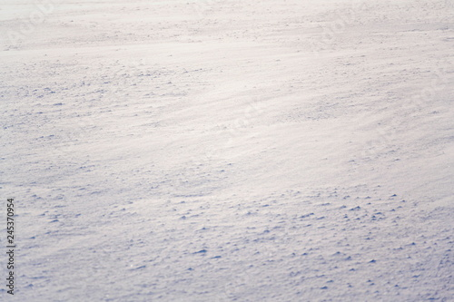 Fotografia  Snow in beautiful sunny winter landscape, freezing weather forecast concept, cop