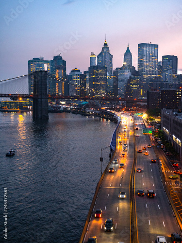 Foto op Plexiglas New York City The road to New York