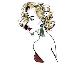 Sketch Of Classic Blond Woman ...