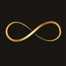 Golden Infinity Sign, Vector I...