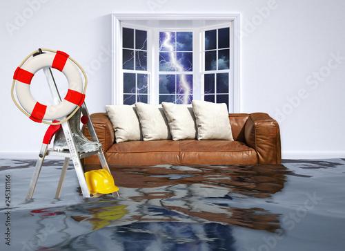 Fotografia Hochwasser im Haus - Flood in the house