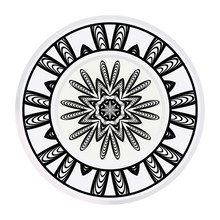 Matching Decorative Plates For Interior Design. Tribal Ethnic Ornament With Mandala. Home Decor Vector Illustration.
