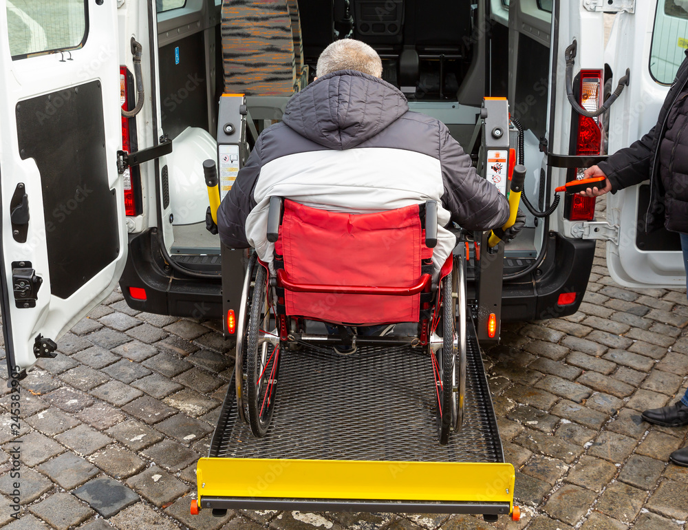Fototapety, obrazy: Minibus for physically disabled people