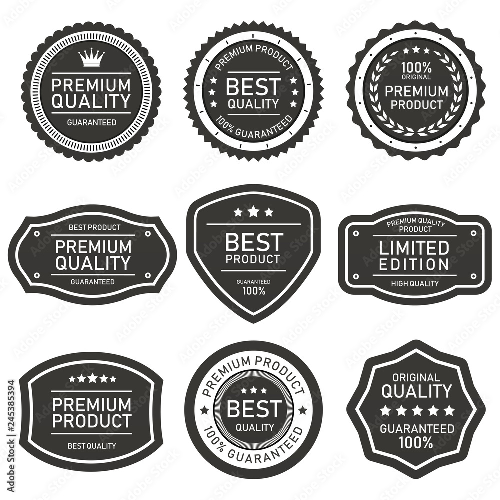 Fototapety, obrazy: set of vector badges and labels