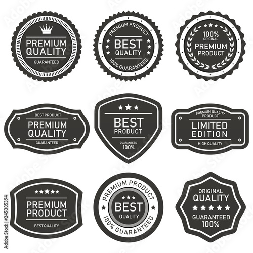 Cuadros en Lienzo  set of vector badges and labels