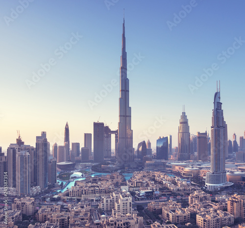 fototapeta na ścianę Dubai skyline, United Arab Emirates