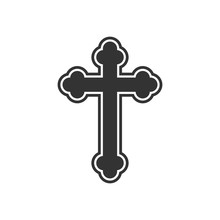 Orthodox Cross Icon. Flat Desi...