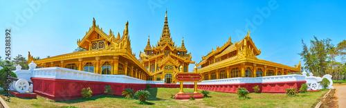 Poster Lieu connus d Asie The facade of Kanbawzathadi palace, Bago, Myanmar