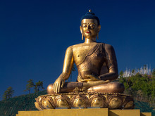 Buddha In Thimphu In Bhutan
