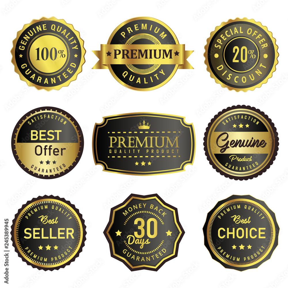 Fototapeta set of premium vintage badges and labels