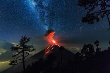 Erupting Volcano, El Fuego, Guatemala, 21. 04. 2018
