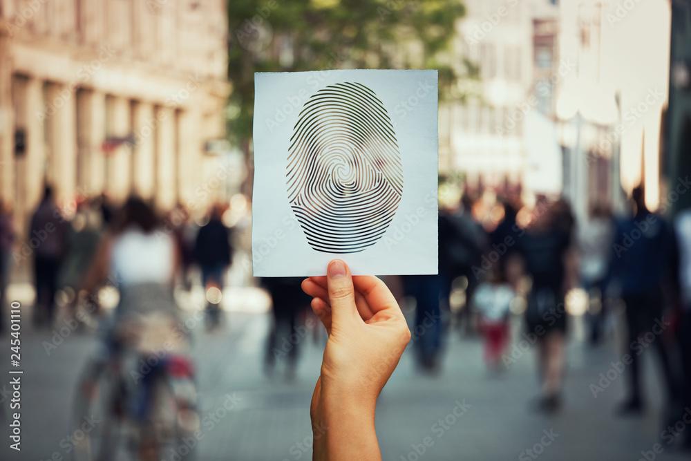 Fototapeta fingerprint identity